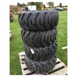 New TRA-WALL Skidsteer/Mini Loader Tires-Times 4