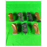 7 various pistol grips