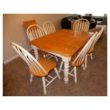 Dining Room Set - Table with Leaf and 6 Chairs