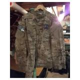 Faded camo army coat. X-LARGE.