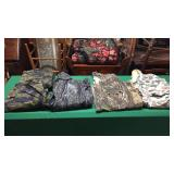 4 Camo Shirts, 1 Pair Pants. Asst sizes