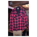 Timber Run Red Plaid Insulated Shirt-Lg.