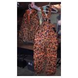 Orange Camo Insulated Rain Coat/Bibs
