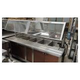 5 Well Heated Bar on Casters