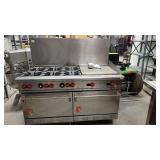 6 Burner 24 in Flat Top Combo Wolf Stove