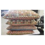 Set of 4 Reading Time Large Geometric Design Pillows