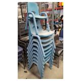 8 Youth 1 Child Blue Stackable Chairs