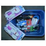 Tote of Extension Cords, Power Strips