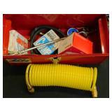 Tool Box w/Air Hose & More