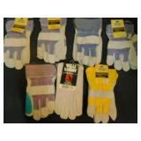 8 Pair Size Large Work Gloves
