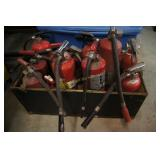 14 Various Sized Fire Extinguishers