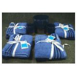 4 New Packs Hand Towels & Glass Bath Décor