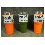 ZAK! 3 - 30oz Insulated Tumblers