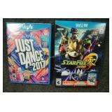 Wii-U Games Star Fox Zero, Just Dance 2017
