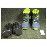 Size 10 Boys Boots, Mittens