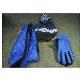 Gloves Size M/L, Hat, Scarf