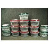 14 - 3 pack Plastic Storage Containers w/ Christma
