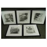 5 - New 13 x 13in Black & White Art Décor
