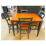 Bar Height Dining Table w 4 Chairs