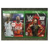 Xbox One Games W2K18, NBA Live 18