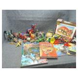 Lot of Dinosaur Toys & Books and More