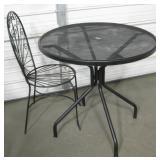 "31"" Dia. Patio Table w/ Metal Patio Chair"