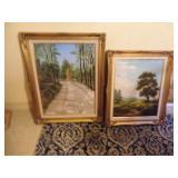 2 Framed Original Landscape Paintings - Signed