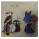 """3 Stained Glass Sun Catchers - 20"""" Tallest"""