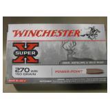 NIB Winchester 270 WIN 150 Grain Cartridges