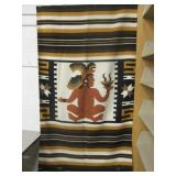 "44"" x 80"" Mayan Motif Woven Blanket"