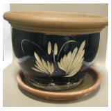 """15.5"""" Diameter Ceramic Planter"""