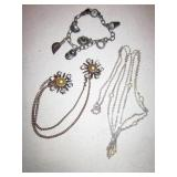 3 Pc. Sterling 925 Marked Jewelry Lot