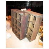2 Vintage Canada Dry Ginger Ale Wood Crates