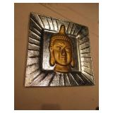 """14"""" x 14"""" Glass Buddha Plate"""