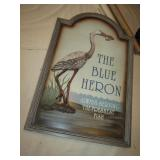 """18"""" x 27"""" The Blue Heron Sign"""