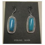 Navajo Sterling & Turq. Earrings - Etta Endito