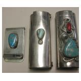 Nickel Silver - Money Clip & 2 BIC Lighter Sleeves