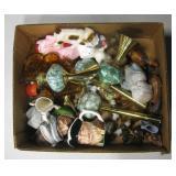 Vintage Ceramic, Glass & Brass Collectibles