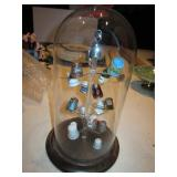 """12"""" Glass Covered Thimble Display"""
