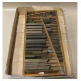 Tray Of Vintage Brass Printing Press Spacers