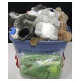 Large Bin Collectible Plush Dolls & Animals