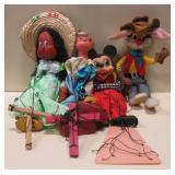 Vintage Miscellaneous Marionettes & Rabbit Figure