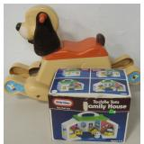 Vtg Toddle Tots Family House & FP Rocking Puppy