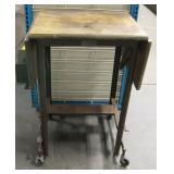 Drop-Leaf Vtg Typewriter Table - Hi-Lo MetalStand