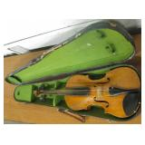Vintage Unmarked Violin w/ Old Violin Case