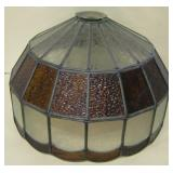 Vintage Stained & Clear Glass Lamp Shade