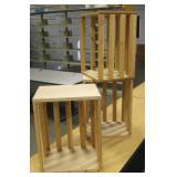 "3 19"" x 15"" Handmade Stacking/Shelving Wood Crates"