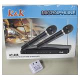 K & K AT-306 Wireless Microphone & Receiver