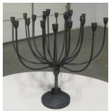 Large Wrought Iron Candlestick Holder - Holds 20