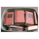 Large Tub Of Assorted Hard Cover Books